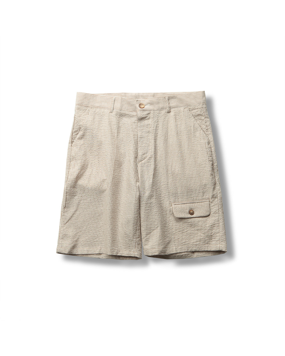 SEERSUCKER HALF PANTS BROWN