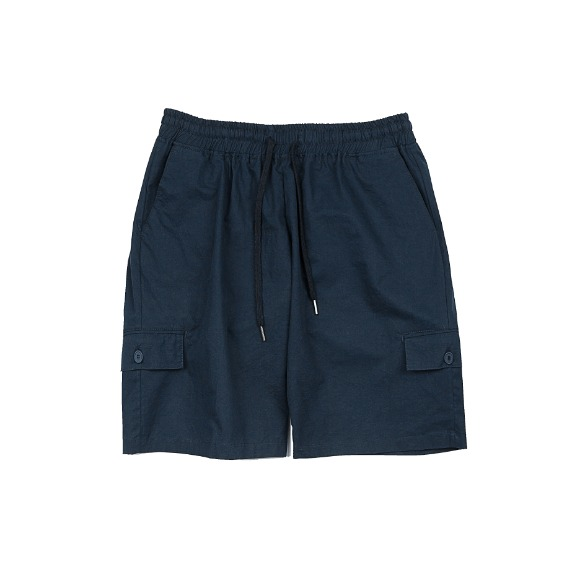 MULTI POCKET BANDING PANTS NAVY
