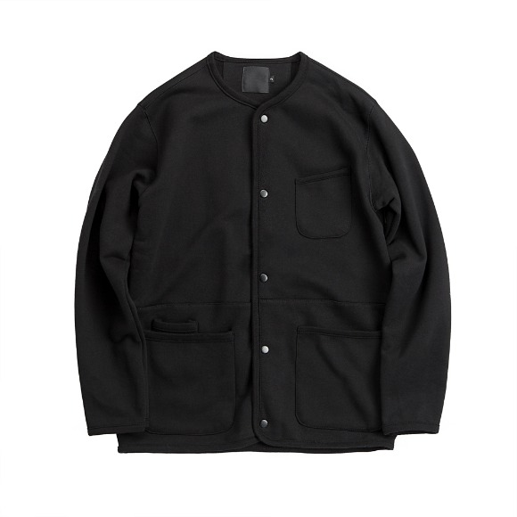 FRENCH TERRY CARDIGAN BLACK