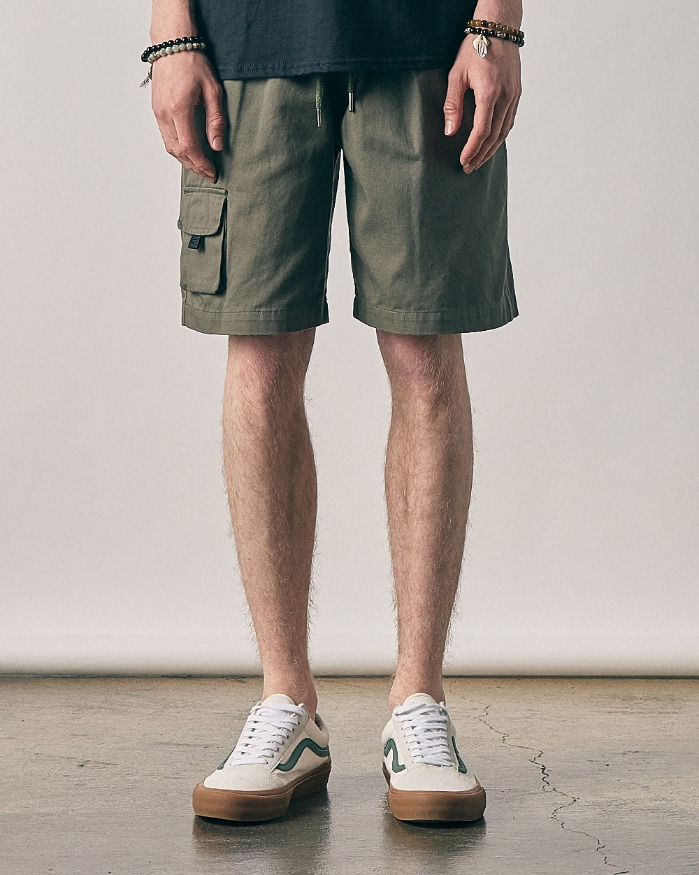 ANOTHER POCKET HALF PANTS OLIVE